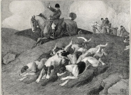 Foxhunting Scenes - Plate 4 Lithograph