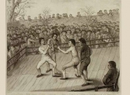 The Boxing Match between Richard Humphreys & Daniel Mendoza at Odiham in Hampshire on 9 January 1788