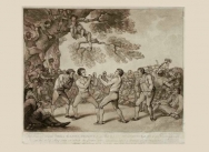 The Boxing Match between Daniel Mendoza & Richard Humphreys at Stilton in Huntingdonshire 6 May 1789