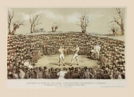 The Great Fight between Tom Sayers and J C Heenan at Farnborough, 17th April 1860