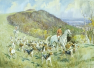 Crawley and Horsham, Spring Hunting near Chanctonbury Ring, 1947