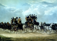 The Brighton Day Mails Passing over Hockwood Common, 1838