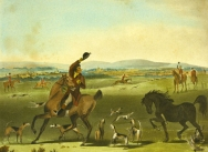 The Pytchley Hunt: A Check Colour lithograph