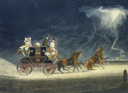 The Mail Coach in a Thunderstorm, 1827