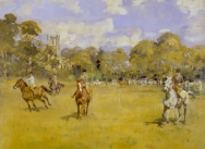 A Pony Club Bending Race