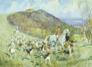 Crawley and Horsham, Spring Hunting near Chanctonbury Ring, 1947