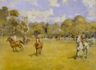 A Pony Club Bending Race